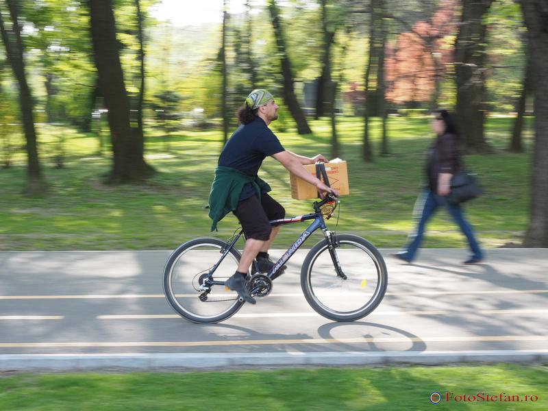 panning biciclist bucuresti
