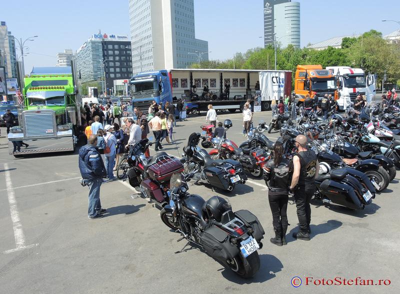 parada camioanelor si a motocicletelor bucuresti piata victorie