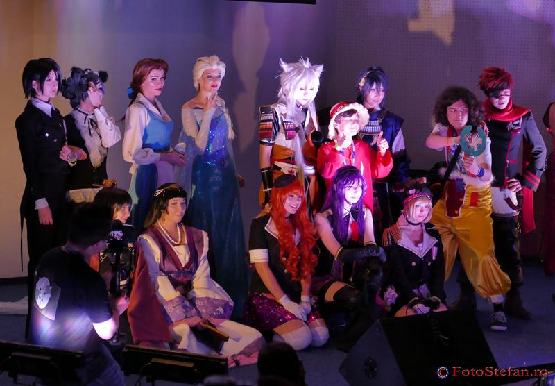 cosplay Soah (Tessa Ioana) si Habaek (Cristina Stefan aka Small Lady), Diva Blast, Luffy si Usopp