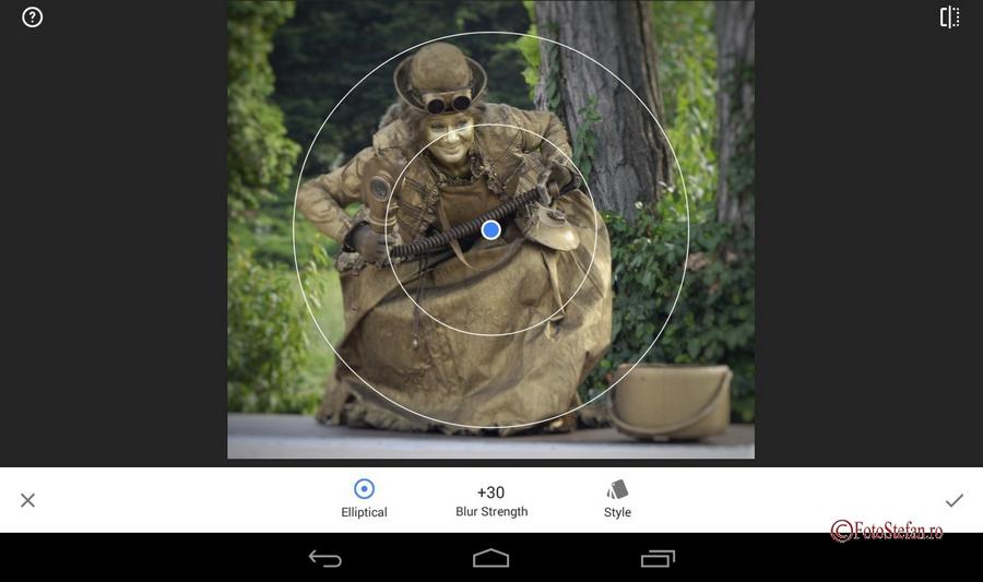blur snapseed app
