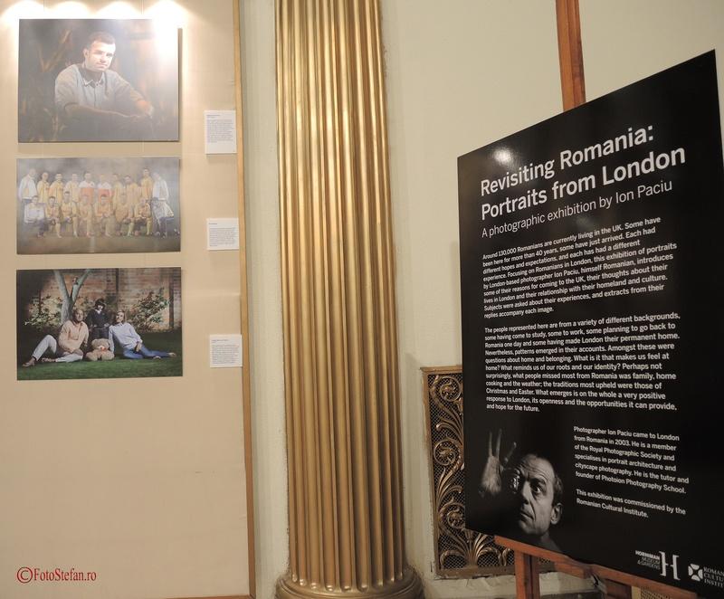 """expozitia """"Portrete din Londra"""" a fotografului Ion Paciu vernisata la ICR Bucuresti"""