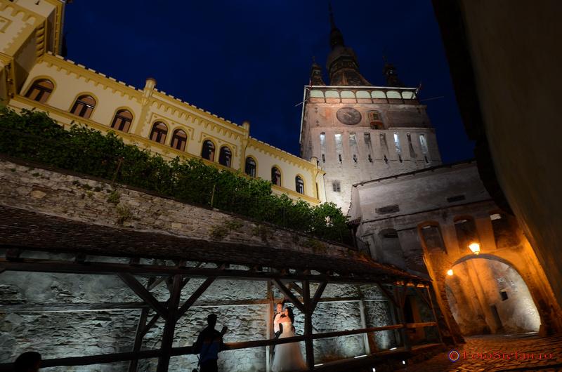 poze nunta noaptea cetatea sighisoara