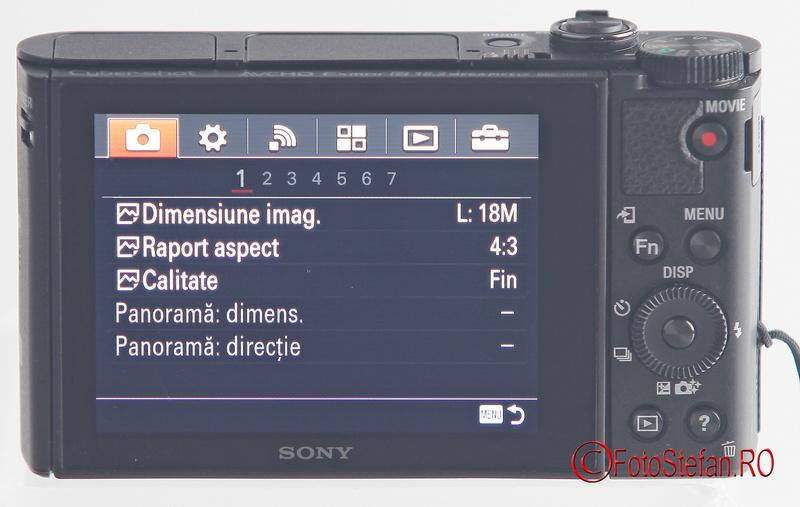 meniu Sony HX90