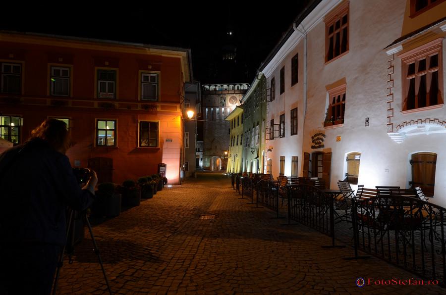 cetatea sighisoara poze seara noaptea
