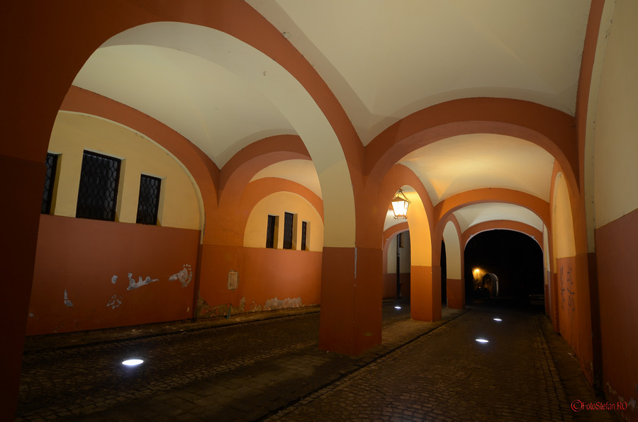 centrul istoric sighisoara foto seara