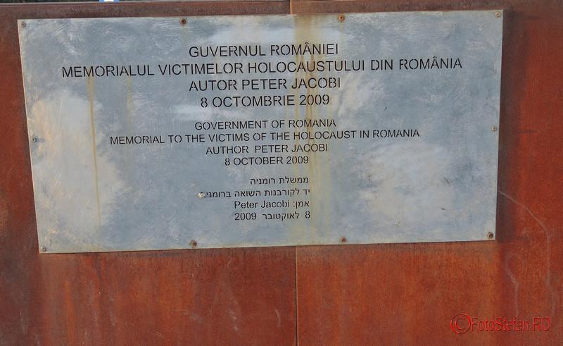 Monumentul Holocaustului (Mahnmal) bucuresti