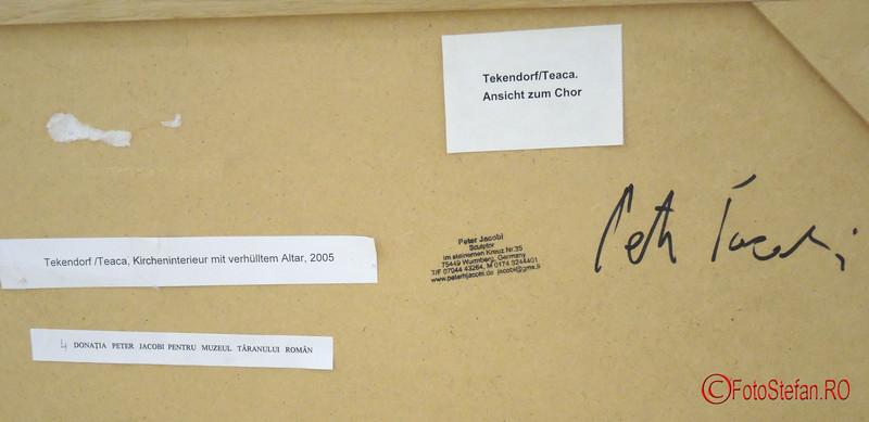 Donatia Peter JACOBI catre Muzeul National al Taranului Român