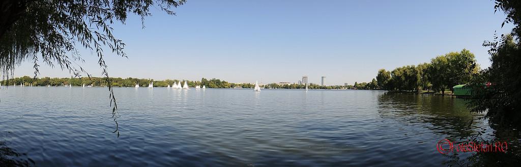 poza panoramica campionatul national de yachting clasa 470 (dinghy) herastrau bucuresti septembrie 2015