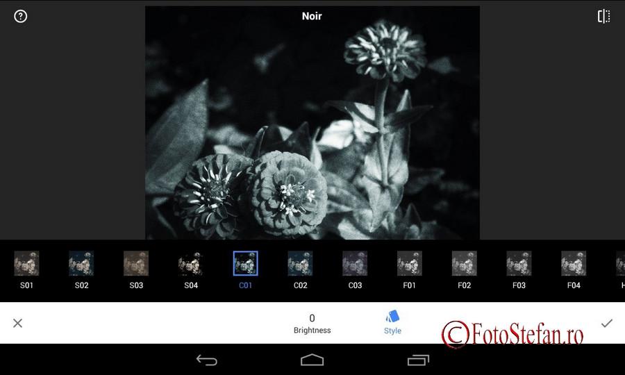 snapseed program gratuit prelucrare poze tableta