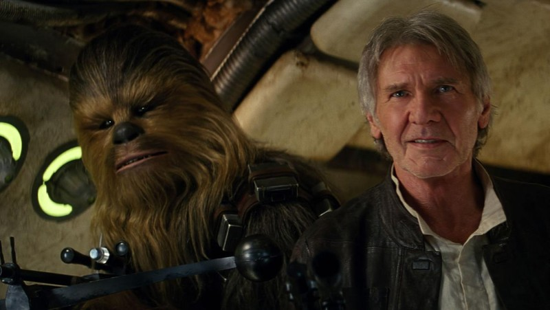 poza Chewbacca Han Solo Harrison Ford