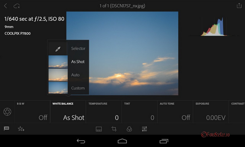 app gratuit Lightroom Mobile android