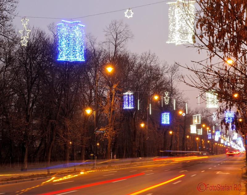 Fotografii cu luminitele de Craciun 2015 din Bucuresti sos kiseleff