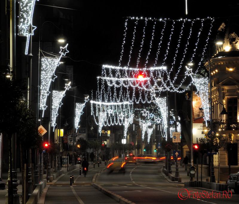 Fotografii cu luminitele de Craciun 2015 din Bucuresti Calea Victoriei