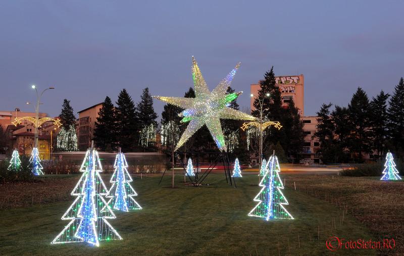 poze luminite Beculetele de Craciun 2015 in Bucuresti  piata Charles de Gaulle