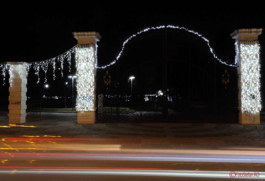 foto luminite craciun parc alexandru ioan cuza cartier titan bucuresti