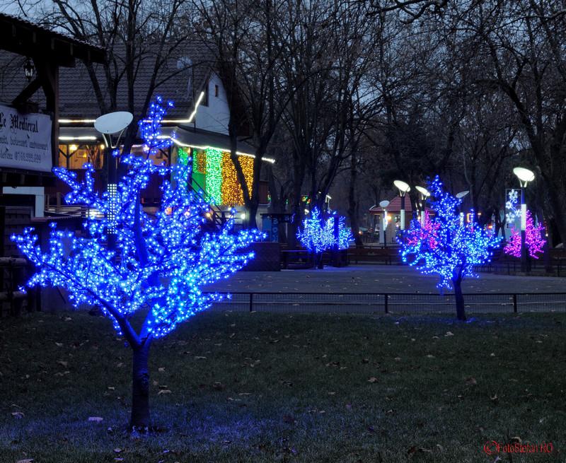 fotografii luminite de Craciun in parcul Oraselul Copiilor Bucuresti sector 4
