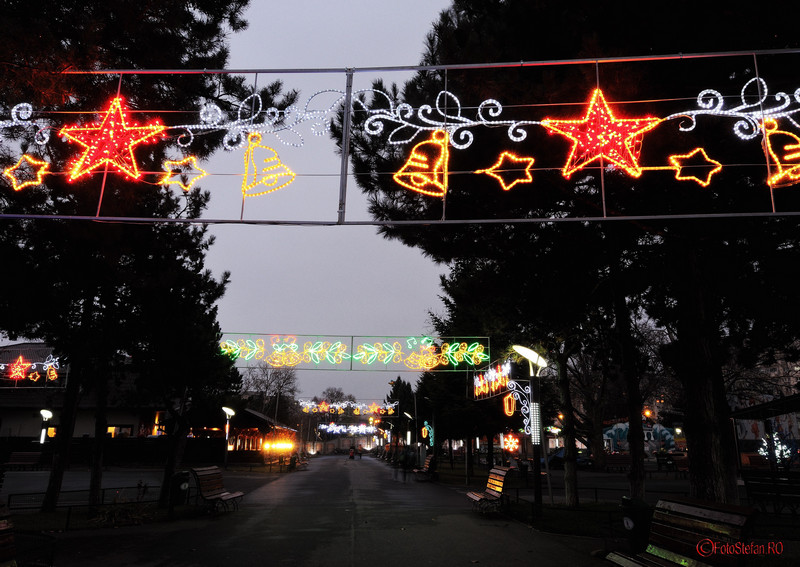 poze luminite de Craciun in parcul Oraselul Copiilor Bucuresti sector 4