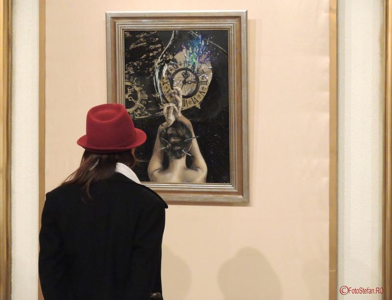 """poze vernisaj Expozitia de pictura, gravura si sculptura """"Dual & Duel"""" a artistilor Eva Radu si ZuZu Caratanase ICR Bucuresti"""