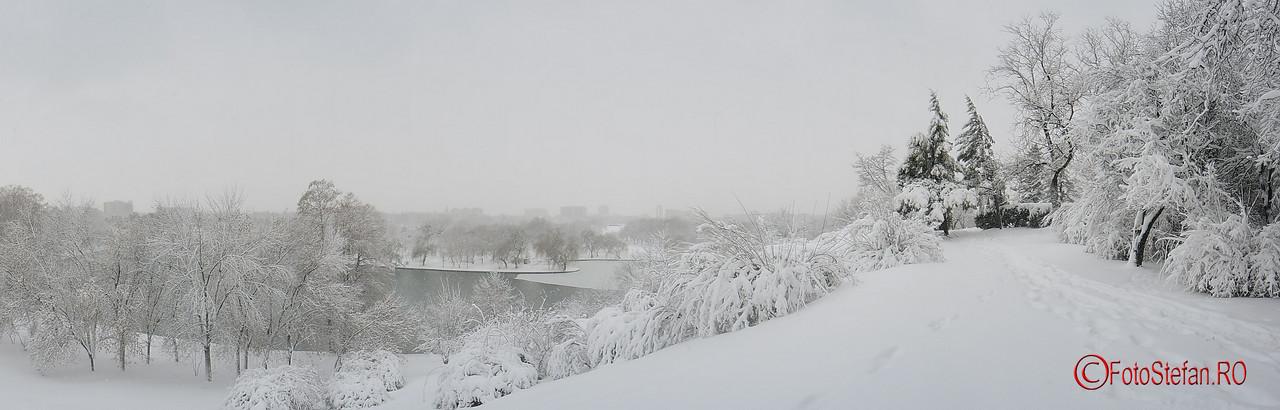 poza panoramica parcul tineretului iarna