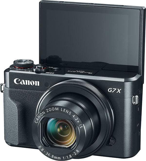 selfie Canon G7x Mark II lcd