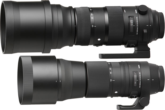 Sigma 150 - 600 mm f:5 - 6,3 DG OS HSM Contemporary (C) şi Sigma 150 - 600 mm f:5 - 6,3 DG OS HSM Sport (S)