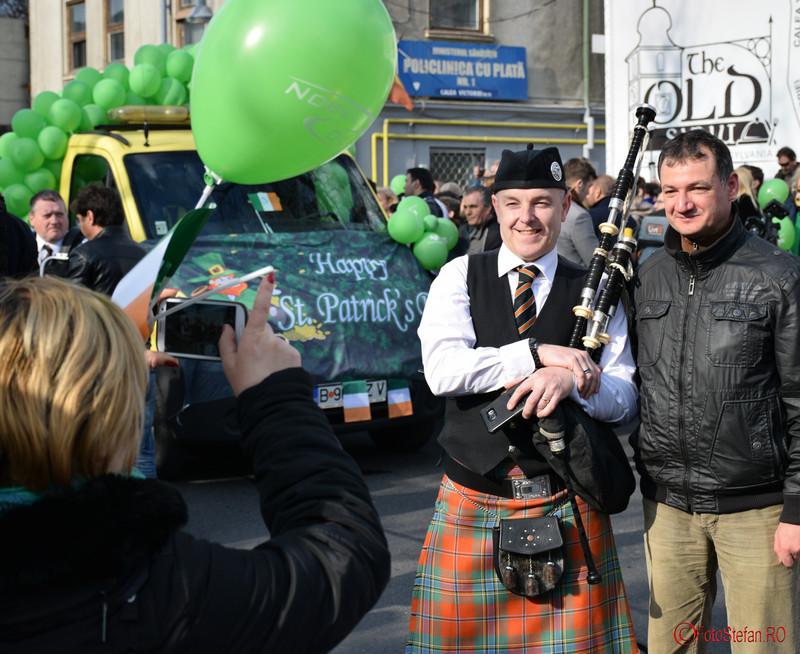 poza cimpoier irlandez parada sfantul Patrick Bucuresti martie 2016