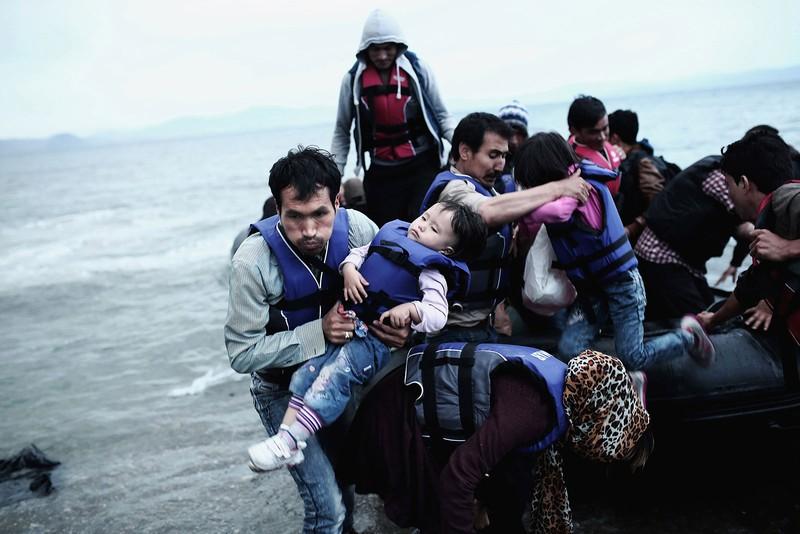 poza refugiati Angelos Tzortzinis, Grecia