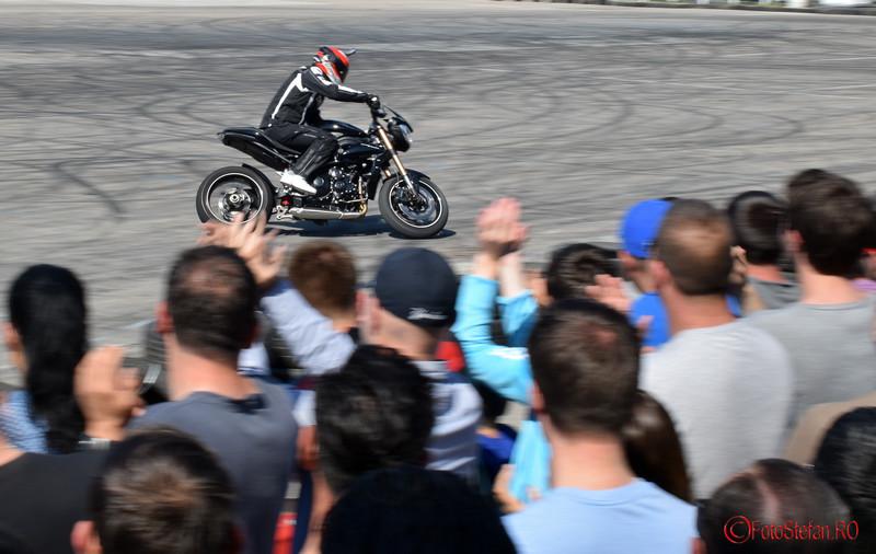 poze demonstratii motocicleta Angyal Zoltan la SAB 2016 Romexpo