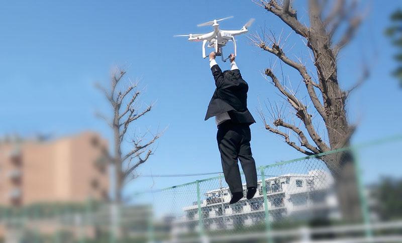farsa 1 aprilie drona dji taxi