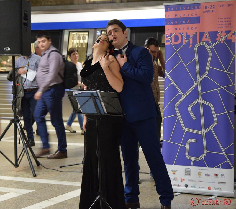 poza solisti muzica clasica peron statie metrou bucuresti