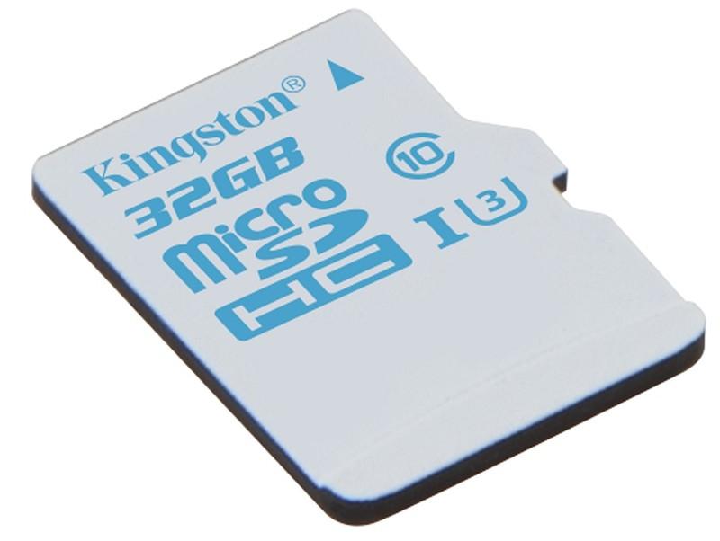 poza foto card memorie 32GB pentru Kingston microSD Action Camera UHS-I U3