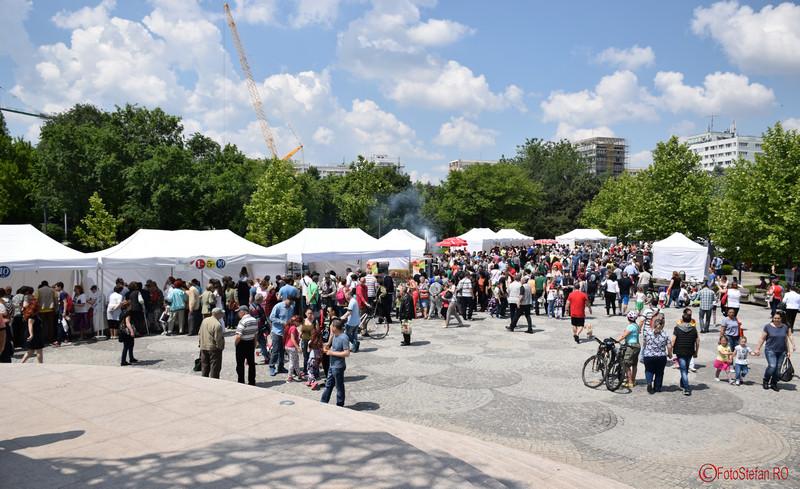 poza vizitatori festivalul turcesc parcul titan