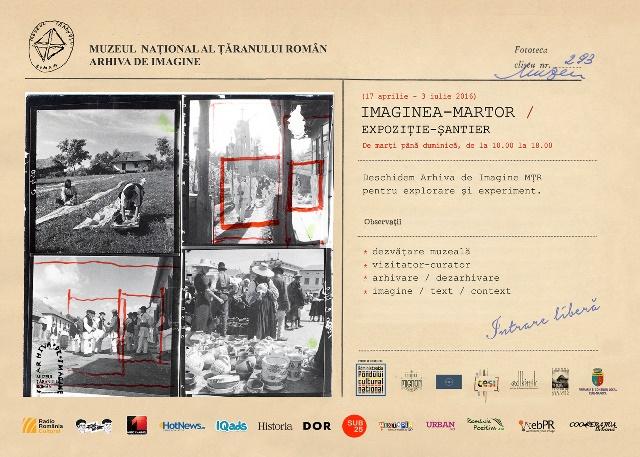 afis poster IMAGINEA-MARTOR, ateliere de arhivare performativă
