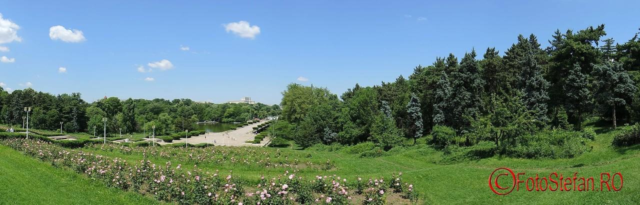 poza panoramica din parcul carol casa poporului