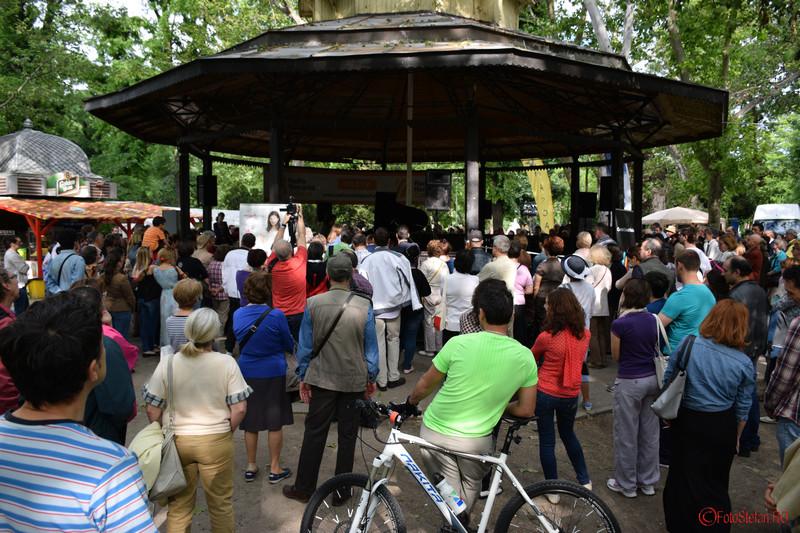 poze spectatori concert muzica pian foisor parcul Cismigiu