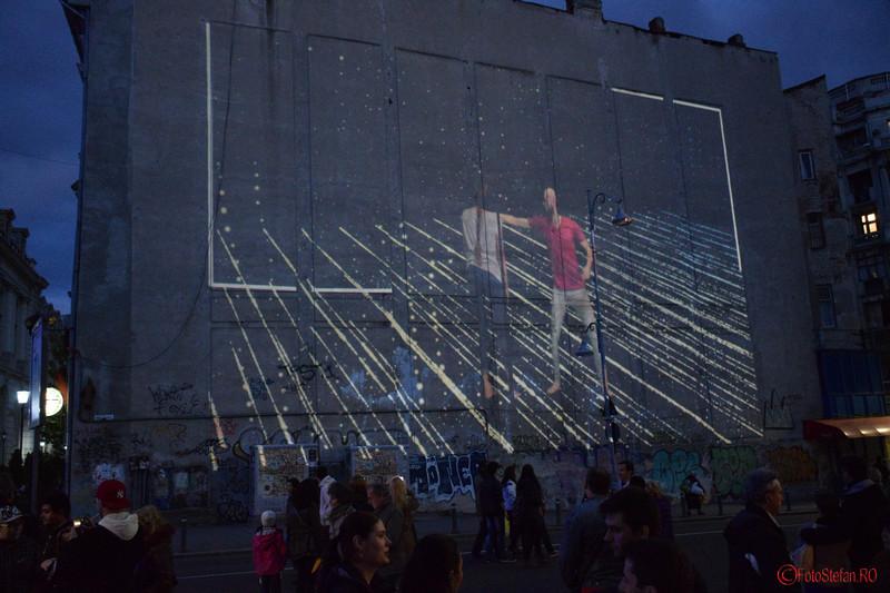 poze proiectie video dansatori festivalul luminii