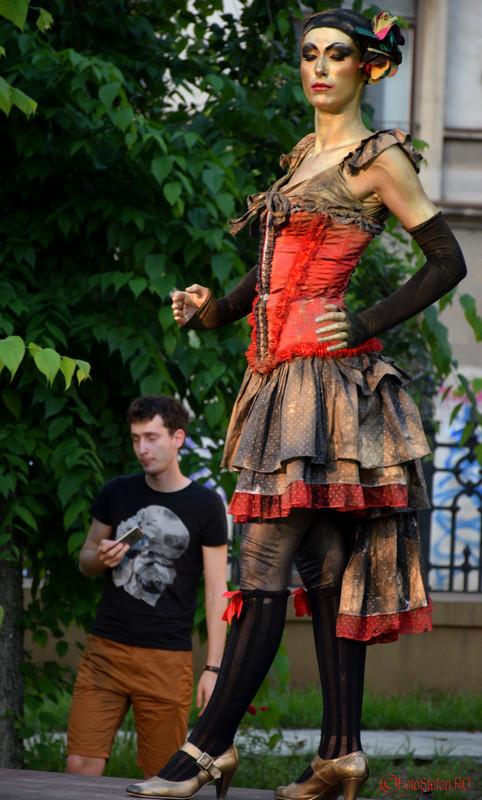 Festivalul International de Statui Vivante #FISV2016 Bucuresti dansatoare tango