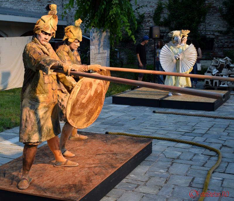 poza soldati de teracota Festivalul International de Statui Vivante #FISV2016 Bucuresti