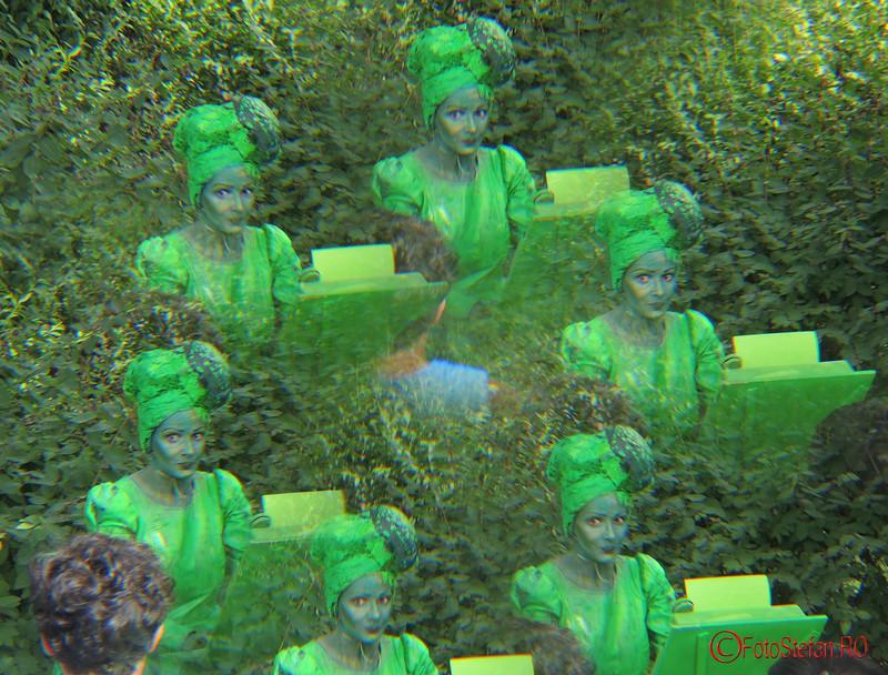 poza statuie vivanta dactilografa filtru multivision