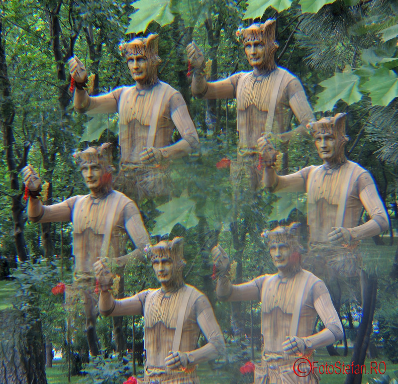 poza filtru multivision bucuresti statuie vivanta woody padurararul