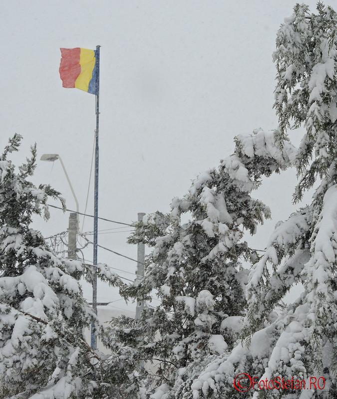 poza steagul romaniei iarna bucuresti
