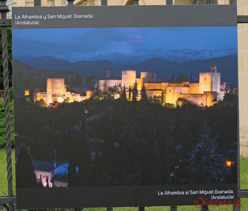 poza Alhambra si San Miguel, Granada Spania