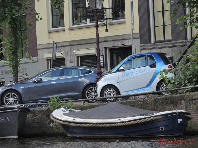 poza masina electrica amsterdam barca