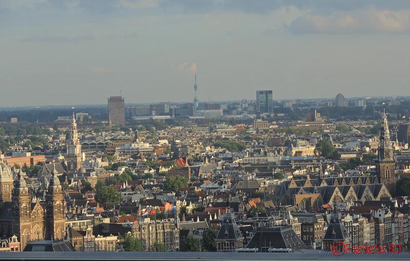poza centru amsterdam vazut de sus