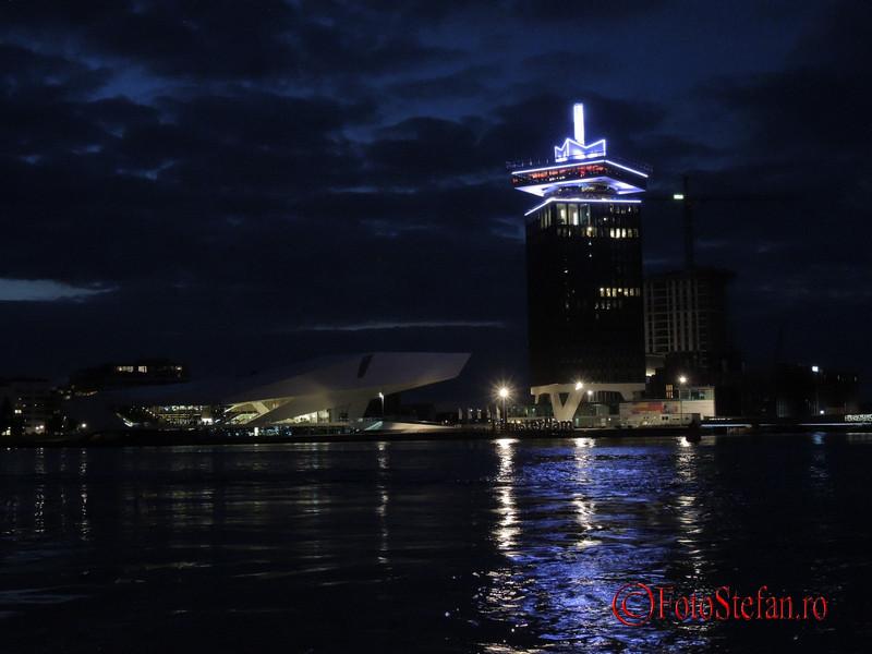 poza turnul A'DAM  amsterdam noaptea