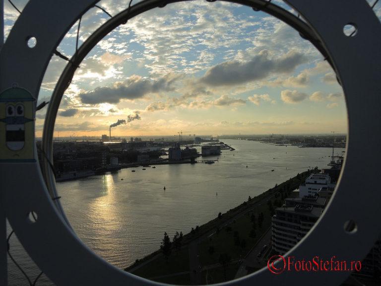 apus sunset amsterdam A'DAM tower aplicatii gratuite pentru planificarea calatoriilor