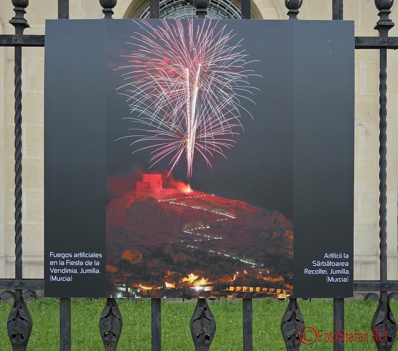 poze artificii sarbatoarea recoltei Jumilla Spania