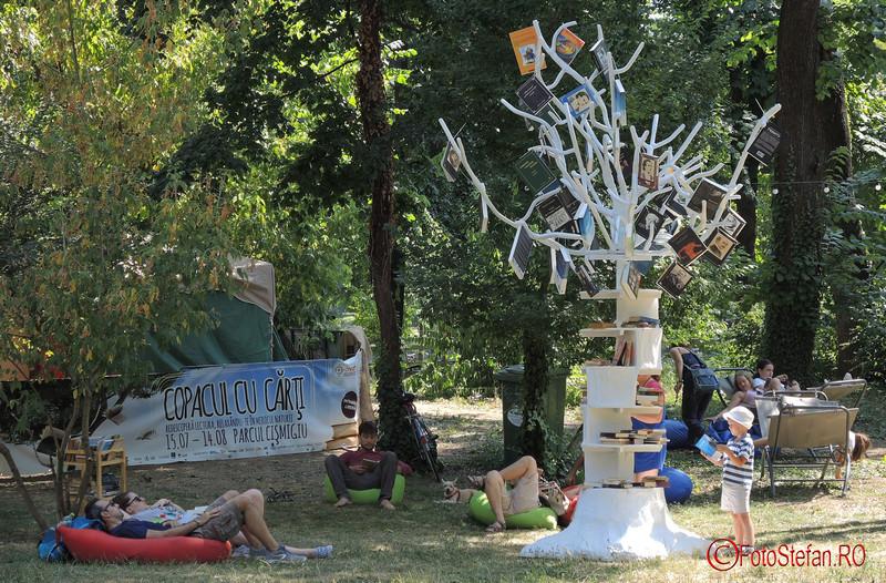 poza copacul cu carti parcul cismigiu