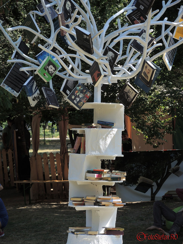 foto copacul cu carti cismigiu bucuresti