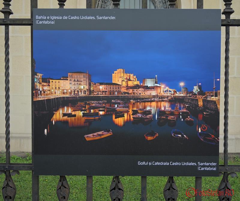 poza noaptea golf si catedrala Castro Urdiales Santander Spania